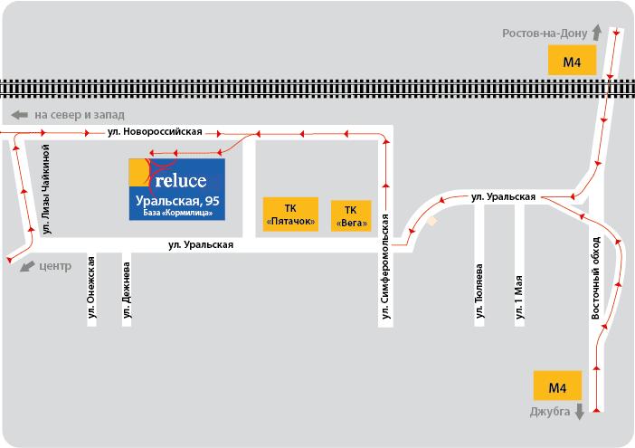 За пределы г. Краснодара - 23 руб. за 1 км в одну сторону.  Яндекс карта.  0-50 км при заказе...  Схема проезда.
