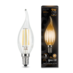 Лампа Gauss LED Filament Candle tailed E14 9W 2700K 1/10/50 104801109